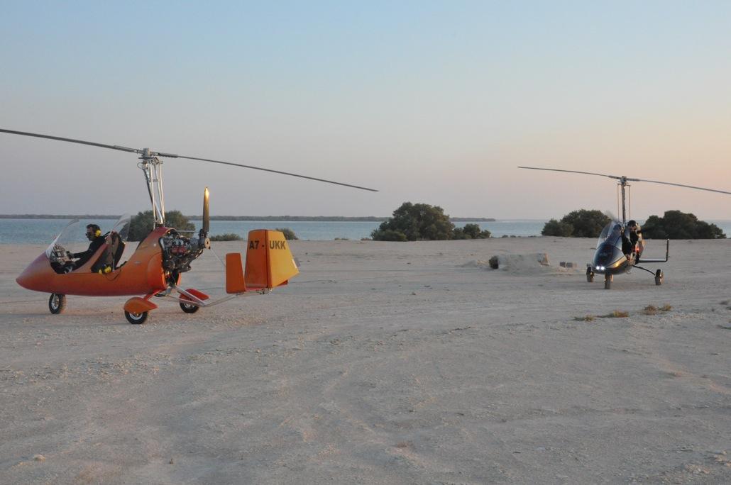 Autogyroflygning i Qatar
