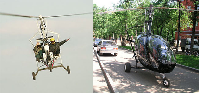 Tre-sits Autogyro